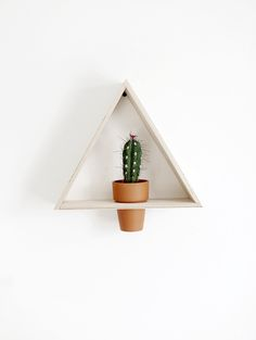 DIY Triangle Wall Planter @themerrythought