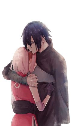 I can't remember if I've pinned this one or not, but you can never pin enough SasuSaku. #naruto