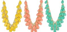 Beautiful Multi-Layered Resin Bib Statement Necklaces! at VeryJane.com