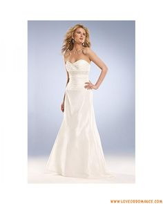 Empire Waist Sweep Train bridal dress Sexy Sweetheart with Beading Affordable