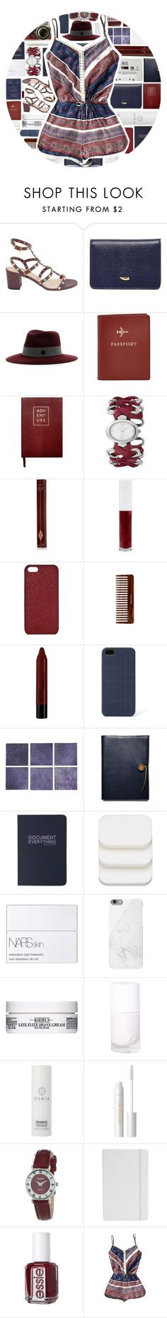 """""""Romper"""" by xgracieeee ❤ liked on Polyvore featuring Valentino, Tusk, MAISON MICHEL PARIS, Leica, FOSSIL, Sloane Stationery, Freelook, Charlotte Tilbury, Obsessive Compulsive Cosmetics and Maison Takuya"""