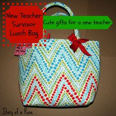 New Teacher Survivor Lunch Bag