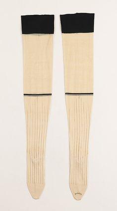 Stockings by McCallum  Date: 1890–99 Culture: American Medium: silk, cotton Dimensions: 34 in. (86.4 cm) Accession Number: 2009.300.1957a, b The Metropolitan Museum of Art