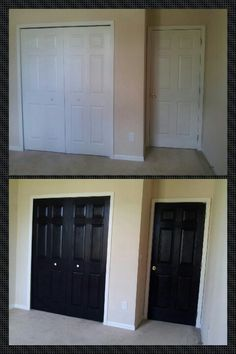 #Paint your doors #black it brings out warm tones in any room whatever the wall #color!