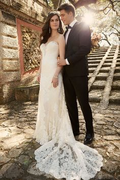 This Essense of Australia design is a beautifully crafted sheath wedding gown