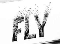 Hey, I found this really awesome Etsy listing at https://www.etsy.com/listing/553201704/fly-sign-pen-and-ink-black-and-white  #fly #birds #sign #typography