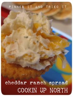 cookin' up north: Cheddar Ranch Spread...pinned it and tried it