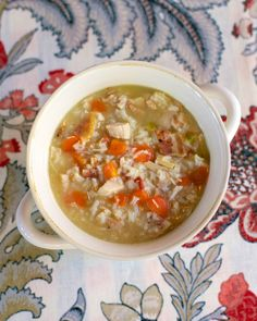 Chicken, Bacon & Rice Soup - ready in 30 minutes!