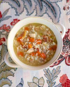 Chicken, Bacon & Rice Soup | Plain Chicken