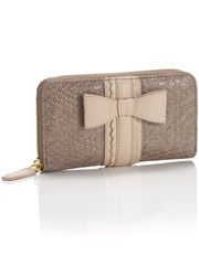 Accessorize || Carrie Croc Bow Wallet