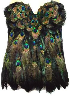 Peacock Feather Corset - might as well have the whole outfit.