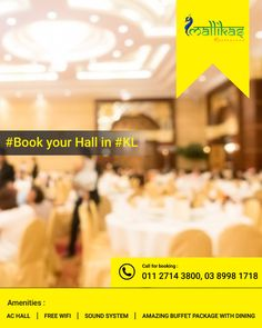 Planning for any celebrations, tea parties, business meetups or any occasions? Welcome to our #banquet #hall It is located in #KualaLumpur #Mallikas #Restaurant #Book your Hall Today: https://zurl.co/7NRp9