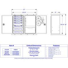 7 Tray/ Single Drawer Box Drawing