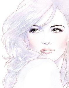 Sketch of a woman - beautiful