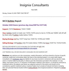 Mcx Bulldex mcx Bullion indix mcx gold silver copper reports tips calls