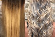 """""""My client came in with banded color with goals of being a clean icy blonde,"""" saysMonika Quatrano (@hairbymonika.q) ofFilomena Salon in Coquitlam, BC, """"I created this look by using a back to back foiling technique."""" Here she shares the HOW TO: STEP 1: To the roots, through the bands, applySchwarzkopfVario extra power with 20 volume (2:1) 2 parts developer to one part lightener. STEP 21: To the blotched blonde ends apply Schwarzkopf vario extra power with 5 volume, again 2:1."""