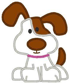 I Woof You Cute Dog Embroidery Machine Applique Design | Applicakes - Needlecraft on ArtFire