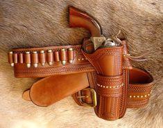 """Deadwood"" holster by Purdy Gear Custom Leather Goods.-SR"