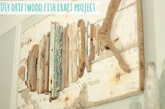 Driftwood Fish Art DIY | The Space Between