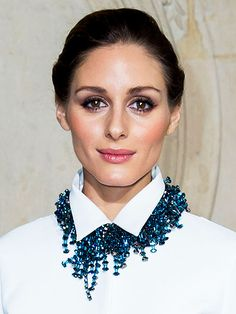 Obsessed or Hot Mess? Vote on These Daring Looks | NECKLACES OVER JACKETS | If Hollywood were a high school and accessorizing were an extracurricular, every star who's worn a necklace over a button-down would make the JV team, while Olivia Palermo makes Varsity for stepping it up and throwing hers over the collar of her jacket.