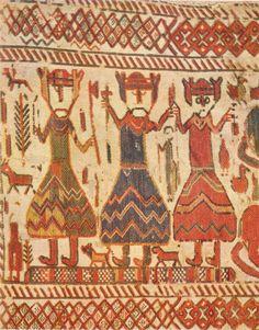 Skog church tapestry | Odin, Thor, & Freyr or three kings | Hälsingland, Sweden | c. late 11th–early 12th century