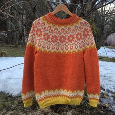 Ravelry: Sundrops / Solgløtt pattern by Vanja Blix Langsrud Knitting Paterns, Lace Knitting, Knitting Designs, Knit Crochet, Icelandic Sweaters, How To Purl Knit, Fair Isle Knitting, Knit Fashion, Classy Outfits