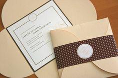 Hochzeitskarten, Einladungskarten - Blumenblatt von Kreative Papeterie für Hochzeit, Geburt und Geburtstag! auf DaWanda.com