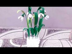 Tutorial ghiocei quilling---Snowdrops quilling tutorial Quilling Tutorial, Make It Yourself, Handmade, Youtube, Hand Made, Youtubers