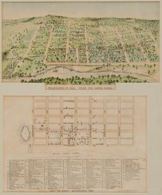 M.L Hatchinson, Melbourne in 1838 from the Yarra (with key),… - Prints - Engravings, Lithographs etc - Art - Carter's Price Guide to Antiques and Collectables