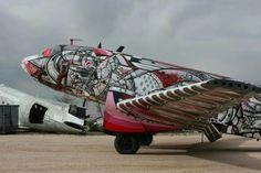 Arizona airplane art junkyard