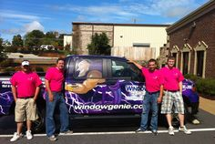 Peter Cogan's team in Charlotte, NC sporting their Window Genie Breast Cancer Awareness shirts this October! Looking good!