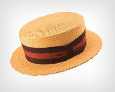 Vintage Hat // Vintage Straw Boater Hat by Dobbs Fifth Avenue