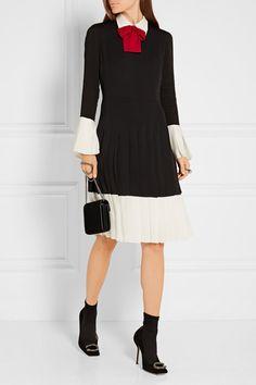 Gucci | Pussy-bow pleated silk crepe de chine dress | NET-A-PORTER.COM