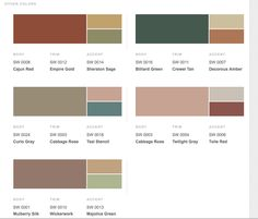 Victorian Inspired Color Combos