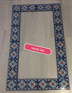 Islamic Art Pattern, Pattern Art, Turkish Tiles, Mirror Tiles, Angel Art, Ceramic Flowers, Tile Art, Ceramic Art, Framed Art