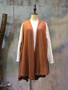 Mori Girl Patchwork Ruffled Waistcoat Khaki Cardigan  #cardigan #khaki #coat #overcoat #ruffle #patchwork
