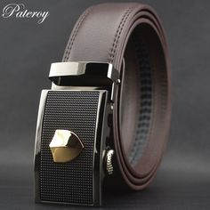 ... from China leather belt Suppliers   PATEROY  Belts Genuine Leather Belt  Men Designer Belts Men High Quality Cinto Ceinture Homme Ceinture Automatic  ... 005fbce4f94