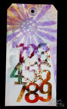 Julie Balzer's new stencil --Using the Balzer Designs #BalzerBits stencils!