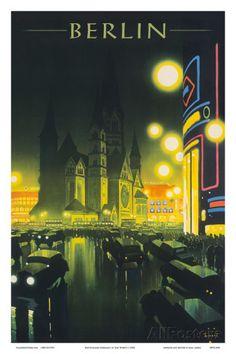 Deutschland (Germany), Kaiser Wilhelm Memorial Church, Berlin, Deutsche Reichsbahn Posters tekijänä Jupp Wiertz AllPosters.fi-sivustossa