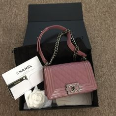 """Chanel le boy Chanel brand new 2015 le boy.  Patent leather around the sides. Feel free to ask for additional pics. pigpigjuju@gmail.com. 7.9""""x4.7""""x2.8"""" CHANEL Bags Crossbody Bags"""
