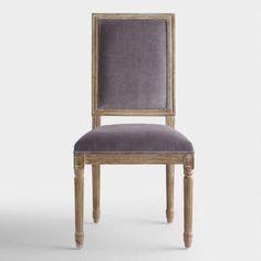 Plum Velvet Paige Square-Back Dining Chairs, Set of 2 | World Market