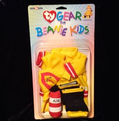Ty Gear Beanie Kids Firefighter Fireman Outfit Costume Halloween Sealed NIB, NOS #Ty