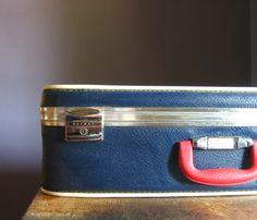 ***Vintage Nautical Suitcase $42