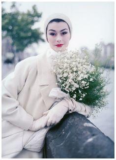 anne gunning 1956 | Anne Gunning wearing the 'Bainin' tweed coat, designed by Sybil ...