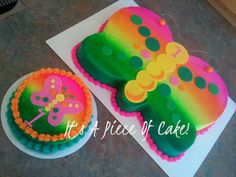 Butterfly Buttercream Cakes | 1st BDay Butterfly Cake and Smash Cake Buttercream Icing - Cake by ...