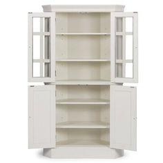 Kitchen Corner Cupboard, Kitchen Display Cabinet, Kitchen Pantry Cabinets, Corner Hutch, Stand Alone Kitchen Pantry, Laundry In Kitchen, Laundry Room, Corner China Cabinets, White Pantry