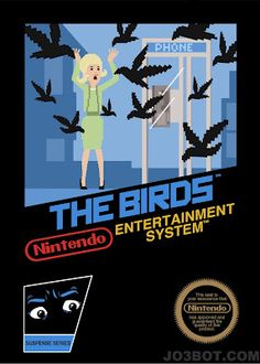 NES Style Cover Art for Classic Hitchcock Films