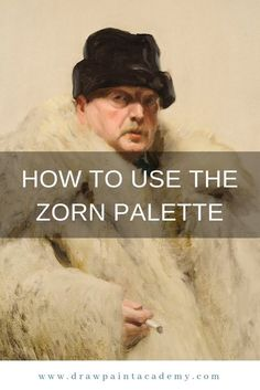 The Zorn palette refers to a palette of colors attributed to the great Swedish artist, Anders Zorn February 1860 – 22 August It consists of just 4 colors being yellow ochre, ivory black, vermilion and titanium white. Cadmium red light is common Oil Painting Tips, Acrylic Painting Techniques, Painting Lessons, Art Techniques, Art Lessons, Painting & Drawing, Painting Tutorials, Drawing Tips, Matte Painting