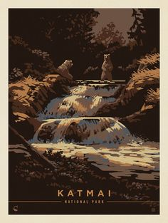 Anderson Design Group, Kenneth Crane, and a New Approach to National Park Poster Art American National Parks, National Park Posters, Nature Posters, Parcs, Vintage Travel Posters, Illustrations Posters, Wall Prints, Cool Art, Linoprint