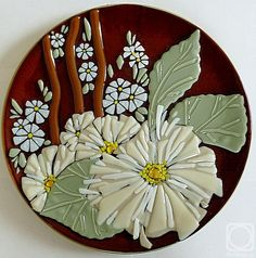 """Repina Elena. Glass dish for the holiday table, """"October"""" fusing"""